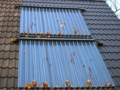 Colectores tubo de vacío  Buderus en tejado