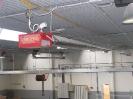 Detalle tubo radiante de gas para calefacción en pabellón