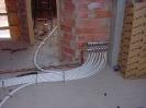 Colector de distribución de calefacción en obra con tubería multicapa polietileno-aluminio